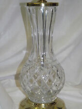 Vintage Lenox Cut Crystal Halley Tall Electric Table Lamp
