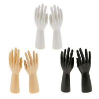 Pair Male Mannequin Hand Jewelry Bracelet Gloves Display Stand Organizer Holder