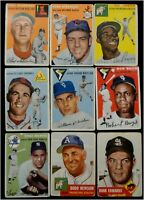 1953 1954 1955 Topps 17 Card Lot Yogi Berra Monte Irvin More Poor-Good Condition
