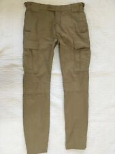 "4fb93e24f1 Willis & Geiger Outfitters Mens 32x34"" Khaki Poplin Bush Pants Flat Front  Cargo"