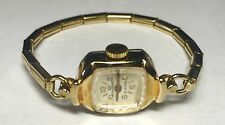 NOS 1970's Leon Piradet 21 Jewels Mechanical Goldtone Cocktail Ladies Watch 003