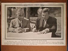 1933 ICN Poster New York Yankees 12x19 BABE RUTH GREAT SHOT signing contract