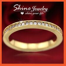 Simulated Diamond 18k Wedding & Anniversary Bands