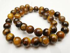 Tigerauge Edelstein Perlen braun rund Kugel Gemstone beads 10 mm