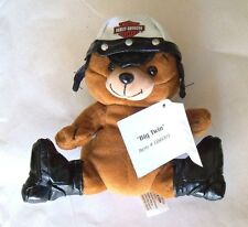 """Harley-Davidson Motorcycle--- Plush Biker Bear """"BIG TWIN""""--- With Tags from 1997"""