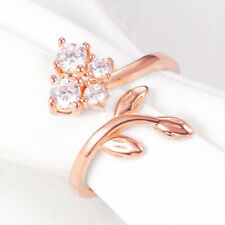 Newshe Gemstone Cocktail Ring For Women 925 Sterling Silver Rose Gold Cz Size 10