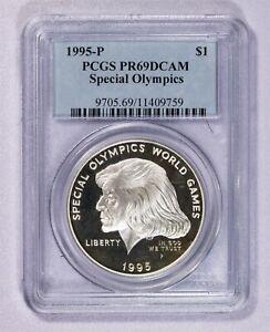 1995 P PCGS PR69DCAM Special Olympics Commemorative Dollar Item#J7145