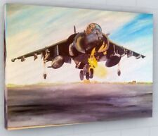 HARRIER JUMP JET CANVAS PICTURE PRINT WALL ART CHUNKY FRAME LARGE 216-2