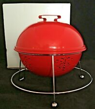 Partylite Barbeque Lights Votive Candle Holder Red P8524 Retired EUC w/ Box