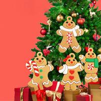 10Pcs NEW Gingerbread Man Christmas Tree Hanging Pendant Xmas Decor Ornament