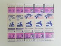Sheet (5 tickets) Chicago White Sox 1982 AL Champ & World Series Phantom Tickets