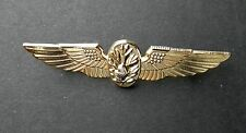 USN US NAVY FLIGHT SURGEON GOLD COLORED WINGS PIN BADGE 2.7 INCHES
