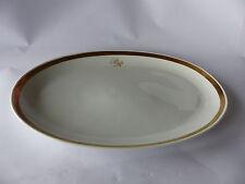 Mittlere Servier-Platte 32 x 21 cm, Palast der Republik, PdR Goldband-Geschirr