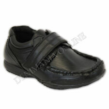 Chaussures noires en synthétique avec attache auto-agrippant pour garçon de 2 à 16 ans