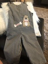 Kellys Kids Size 4 Black Checked Powell Dog Lknew Longall