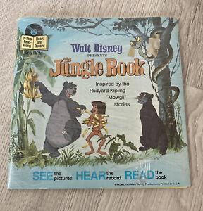Disneyland Story Reader Walt Disney The Jungle Book Read Along Record # 319 1977