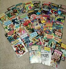 Lot of 40 Vintage Comic Books black panther hulk iron man capitan america & more