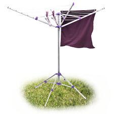 Wäschespinne 19m Leine mit Standfuß Wäscheständer Aluminium klappbar mobil