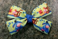 Lot of 2 Winnie the pooh piglet Tigger hair bow girl alligator clip bows