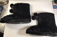 Fox Fur Slippers Women Girls Home Bathroom Warm Comfortable 9 - 10 NEW