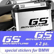 2 Adesivi Stickers Moto BMW R 1200 1150 1100 800 650 gs valigie adventure