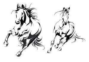 high detail airbrush stencil 2 horses running FREE UK  POSTAGE