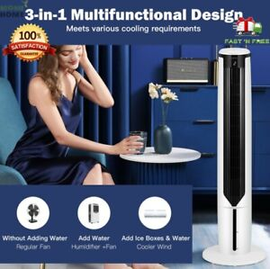 Evaporative Portable Air Conditioner Cooler Tower Fan with Remote Control 3 in 1