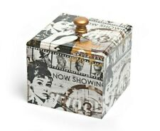 Audrey Hepburn Trinket Box Wooden Handmade decoupaged