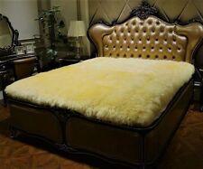 100% Pure Sheepskin Queen 200x220CM Bed Thick Fur Wool Plush Blanket Throw