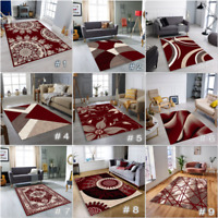 NEW THICK MODERN RUG  SOFT RED BEIGE BROWN  HEAVY LARGE AREA RUGS RUNNER MAT