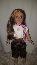 "American Girl 18"" Doll Marisol Luna 2005 GOTY - meet pants scarf included."