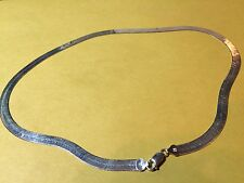 "Milor 925 italy sterling silver necklace 20"" 1/4"" WIDE  16 GRAMS"