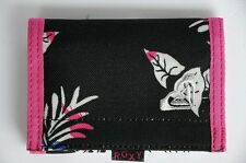 Roxy Purse Wallet Velcro Black Pink NEW