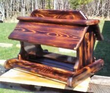 Very large handmade cedar wood square post mount bird feeder,TBNUP #1B