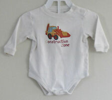 LITTLE WONDERS Size 3-6 Months Boy White Long Sleeves Bodysuit Romper