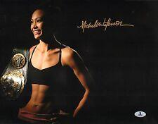 Michelle Waterson Signed UFC 11x14 Photo BAS Beckett COA Karate Hottie Invicta 3