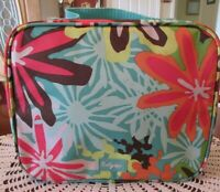 Thirty One 31 Thermal Insulated Floral Zippered Lunch Box With Handle Excellent