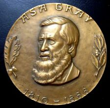 Asa Gray Hall of Fame for Great Americans 1972 by Bruno 76 mm Bronze Medal N115
