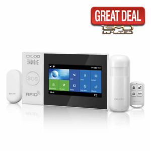 """GSM WIFI DIY Smart Home Security Alarm System Kit 4.3"""" LCD Touch Screen"""