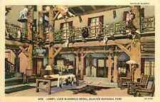 Linen Postcard Lake McDonald Hotel Lobby, Glacier National Park
