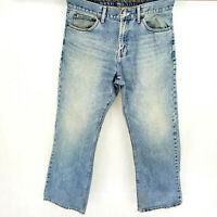 VINTAGE American Eagle Bootcut 32x30 Blue Jeans Classic Wide Leg Faded Look