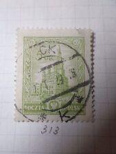 POLOGNE POLSKA, 1925-26, timbre 313, HOTEL VILLE POZNAN, oblitéré, VF used stamp