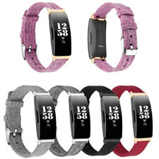 Nylon Leather Canvas Watch Band Strap For Fitbit Inspire&Inspire HR