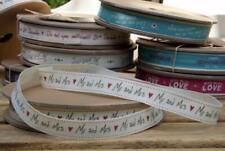 EAST OF INDIA vintage word ribbon - Mr and Mrs 20 Metre Roll 3120 EOI