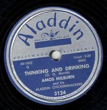 AMOS MILBURN ON ALADDIN 78 RPM # 3124 – THINKING AND DRINKING / TROUBLE IN MIND
