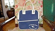 Rare Vtg South African Airways Blue & White Flight Travel Luggage Carry On Bag