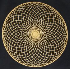 Crystal Grid Cloth TORUS 12 Inch Black Gold 100% Cotton Gridding Manifestation