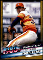 Nolan Ryan 2020 Topps Decade's Best Series 2 5x7 Gold #DB-65 /10 Astros
