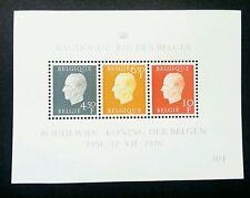 Belgium 25th Anniversary King Baudouin 1976 (miniature sheet) MNH