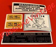Honda CB 350 Four  /adesivi/stickers tecnici